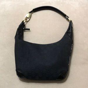 Gucci black canvas purse